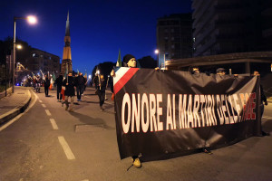 CasaPound marcia foibe