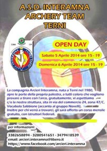 locandina-open-day-interamna-archery-team
