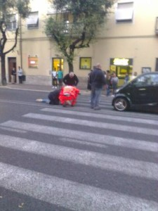 incidente viale Curio Dentato (1)