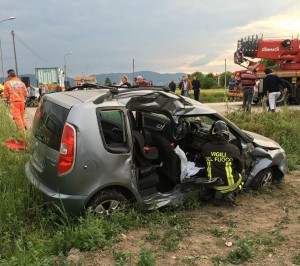 incidente strada delle Campore